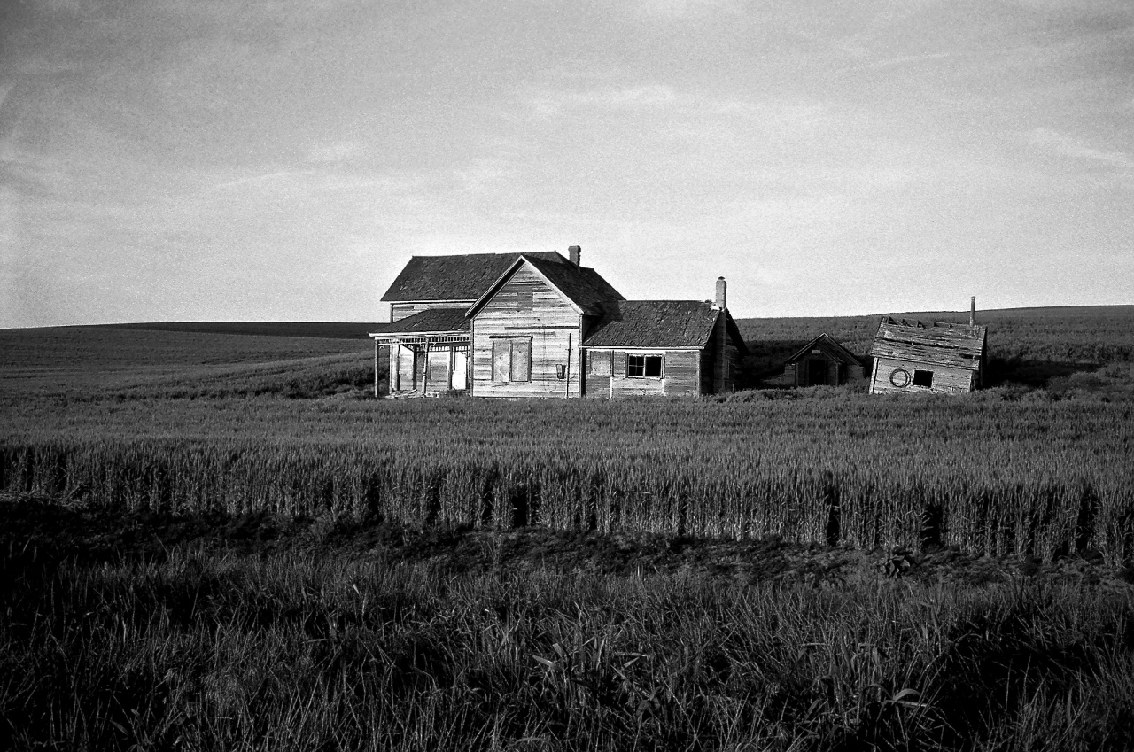Weber House, Palouse, Black and White Film, #nXnw2015, #We35