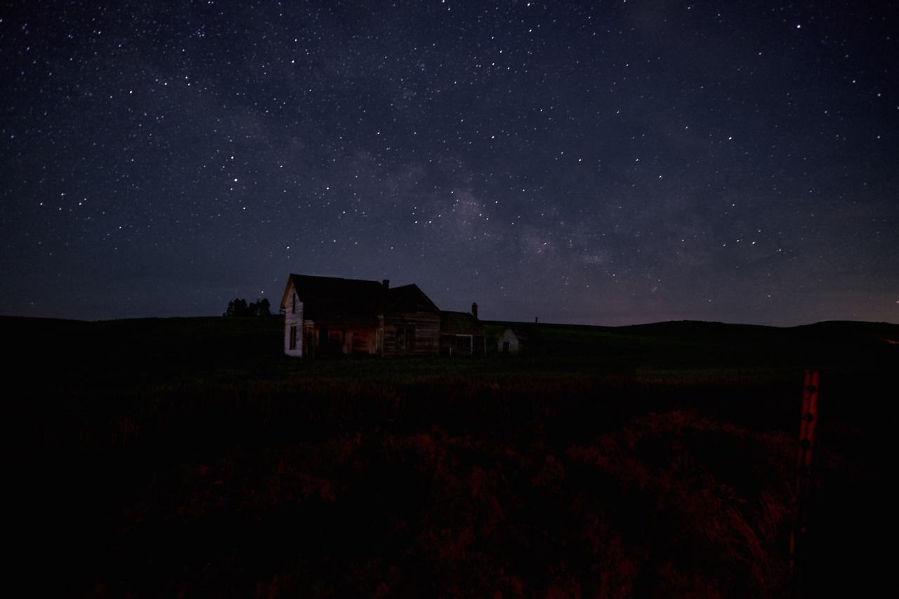 Weber House and Milky Way – Palouse – nXnw2015